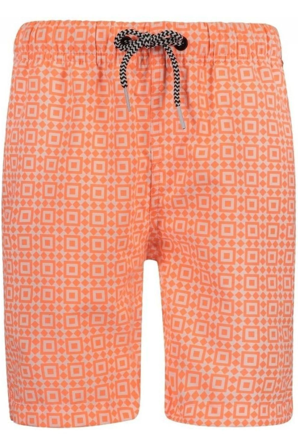 Shiwi Zwemshort Tileprint voor jongens - Oranje/Wit - Maat: 164