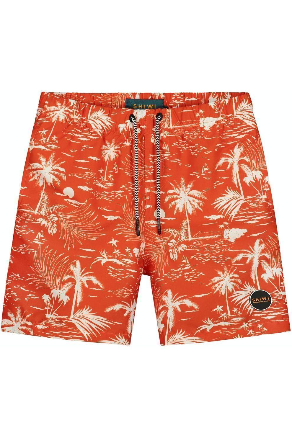 Shiwi Zwemshort Kauai voor jongens - Oranje/ Gemengd - Maten: 128, 140, 152, 164, 176