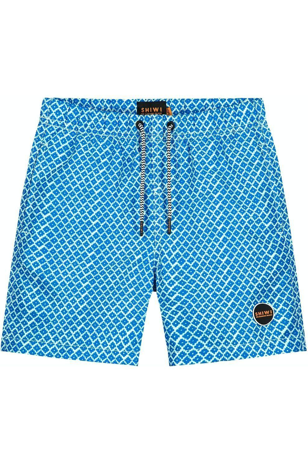 Shiwi Zwemshort Mosaic voor jongens - Blauw/ Gemengd - Maten: 128, 140, 152, 164, 176