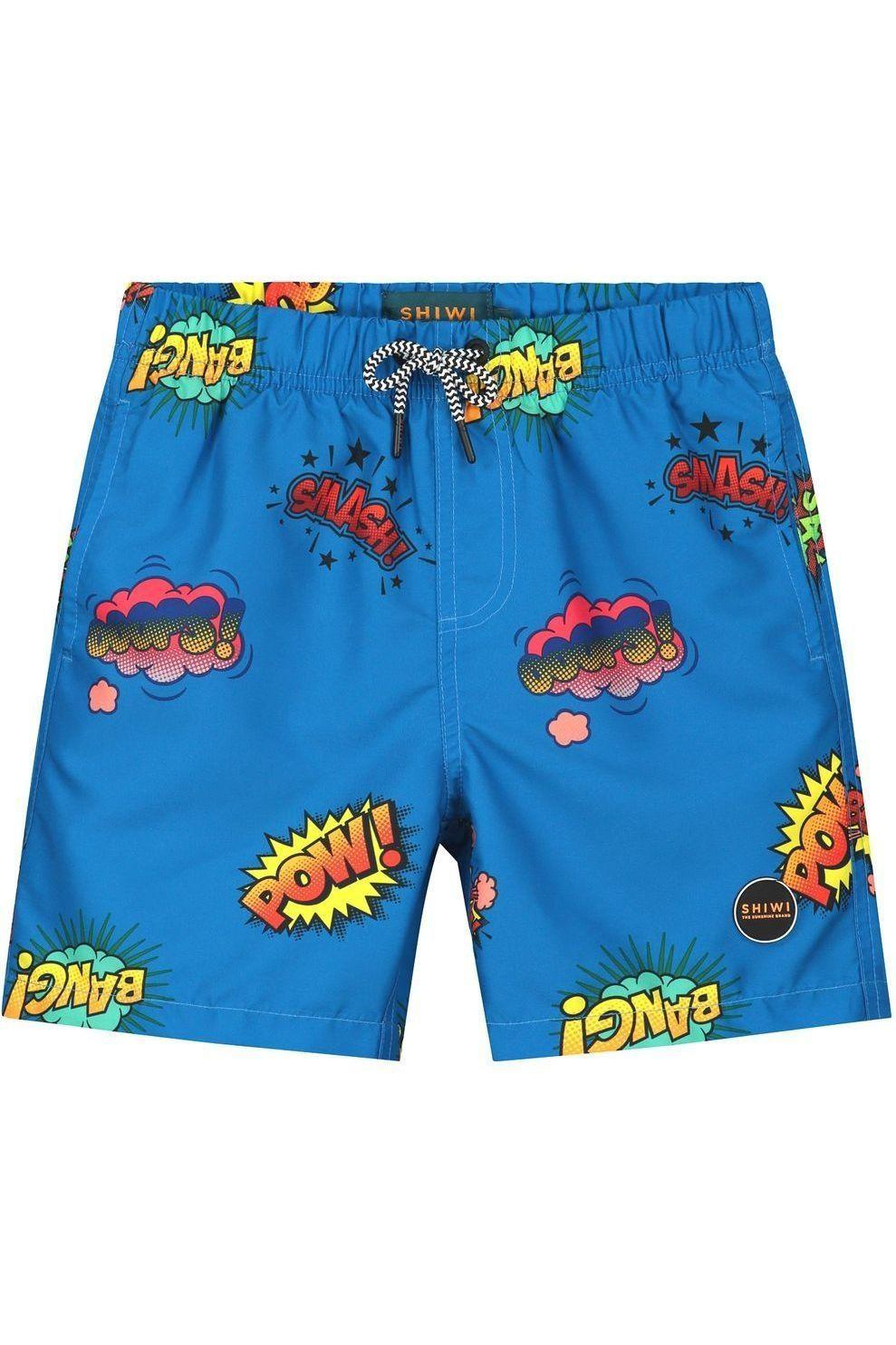 Shiwi Zwemshort Boys Pow Wow voor jongens - Blauw/ Gemengd - Maten: 104, 116, 128, 140, 152, 164, 17
