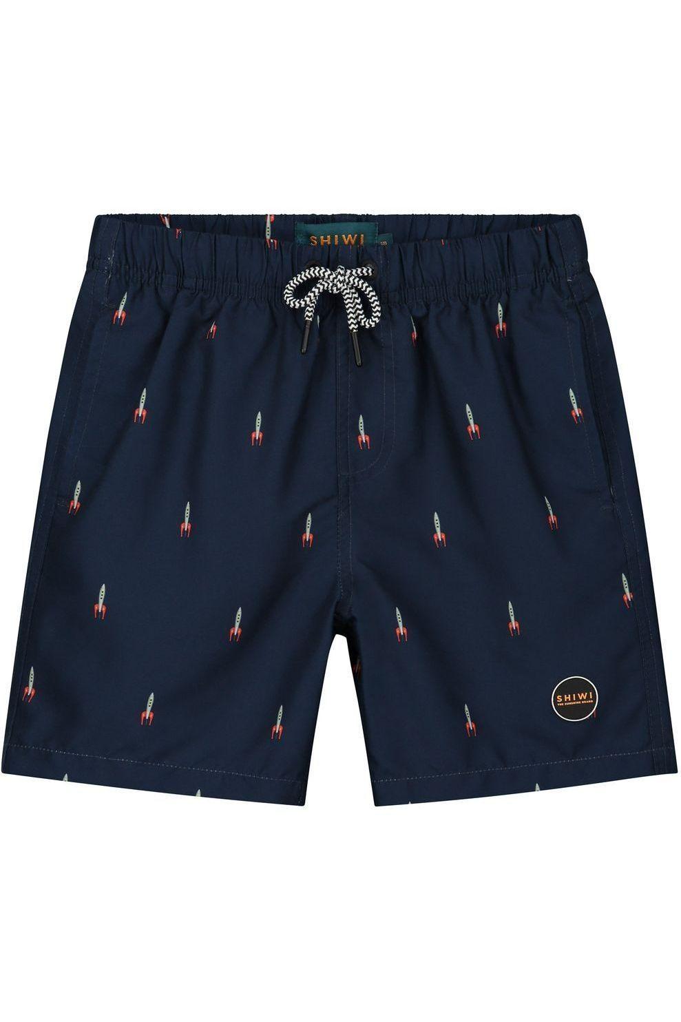 Shiwi Zwemshort Boys Rocket voor jongens - Blauw - Maten: 104, 116, 128, 140, 152, 164, 176