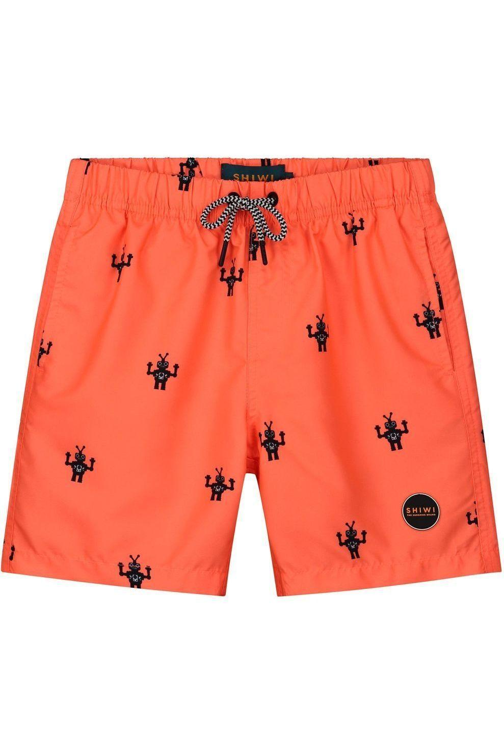 Shiwi Zwemshort Boys Robot voor jongens - Oranje/ Gemengd - Maten: 104, 116, 128, 140, 152, 164, 176