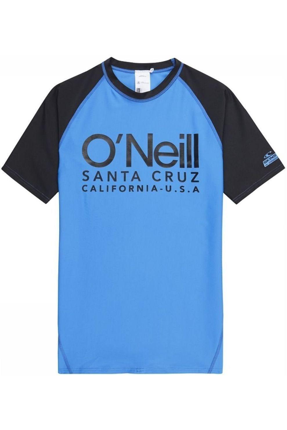 O'Neill Lycra Pb Cali S/Slv Skins voor jongens - Blauw/Zwart - Maat: 128