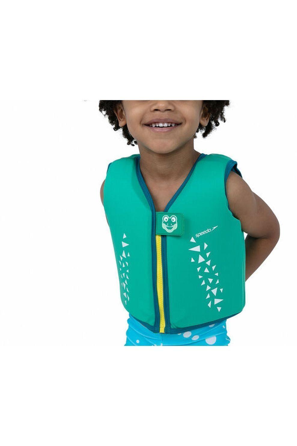 Speedo Zwemvest Print Float voor jongens - Groen - Maten: 2, 4