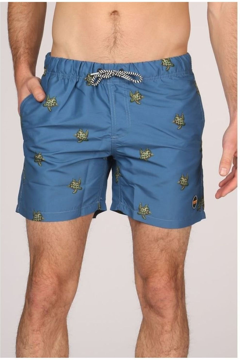 Shiwi Zwemshort Turtle voor heren - Blauw/DonkerGroen - Maten: S, XL