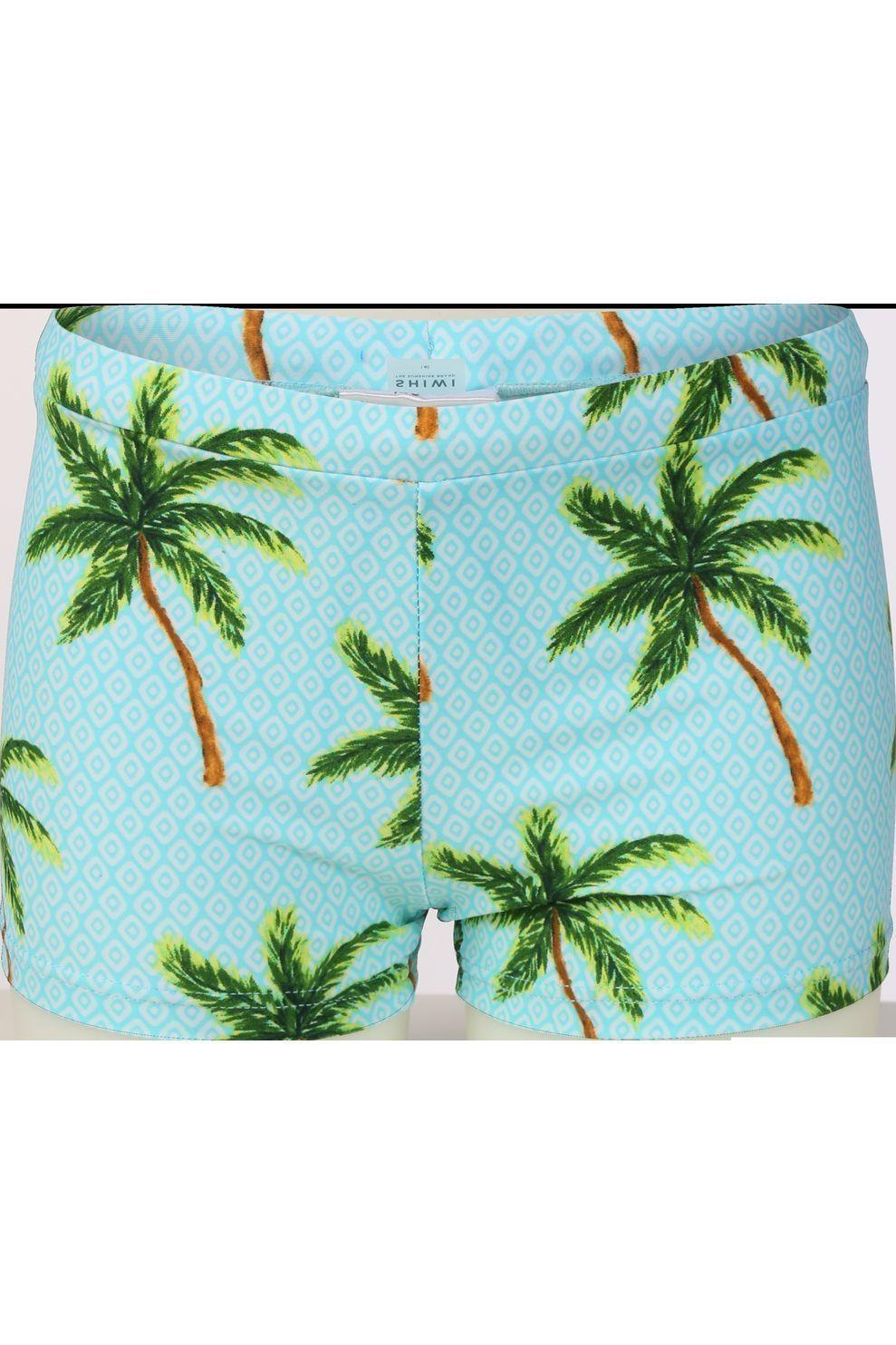 Shiwi Slip Painted Palms voor jongens - Blauw - Maten: 116, 128, 140, 152, 164