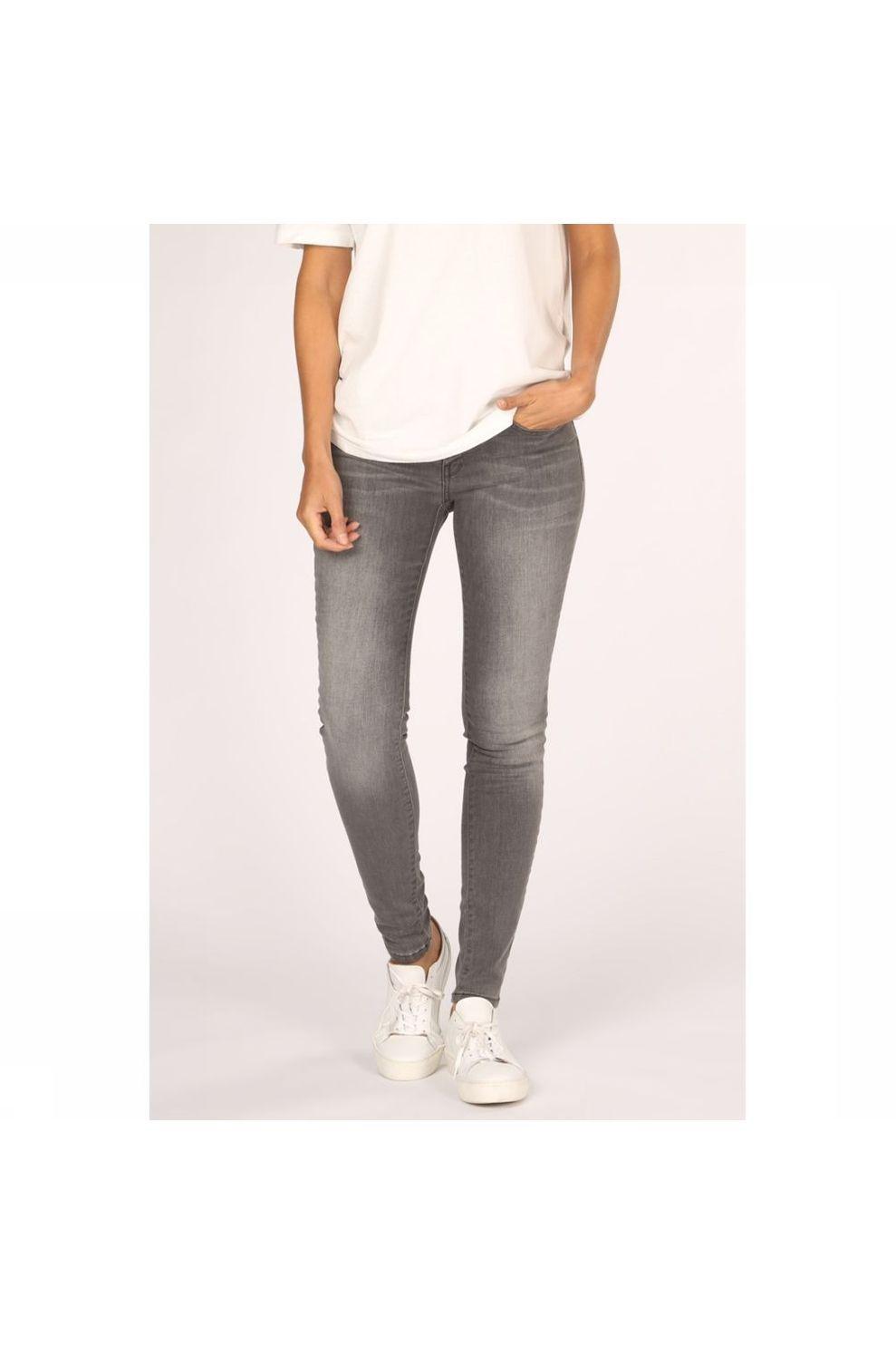YAYA Jeans Basic Skinny 5-Pocket With Stretch voor dames - Grijs - Maten: 34, 36, 38, 40, 42, 44