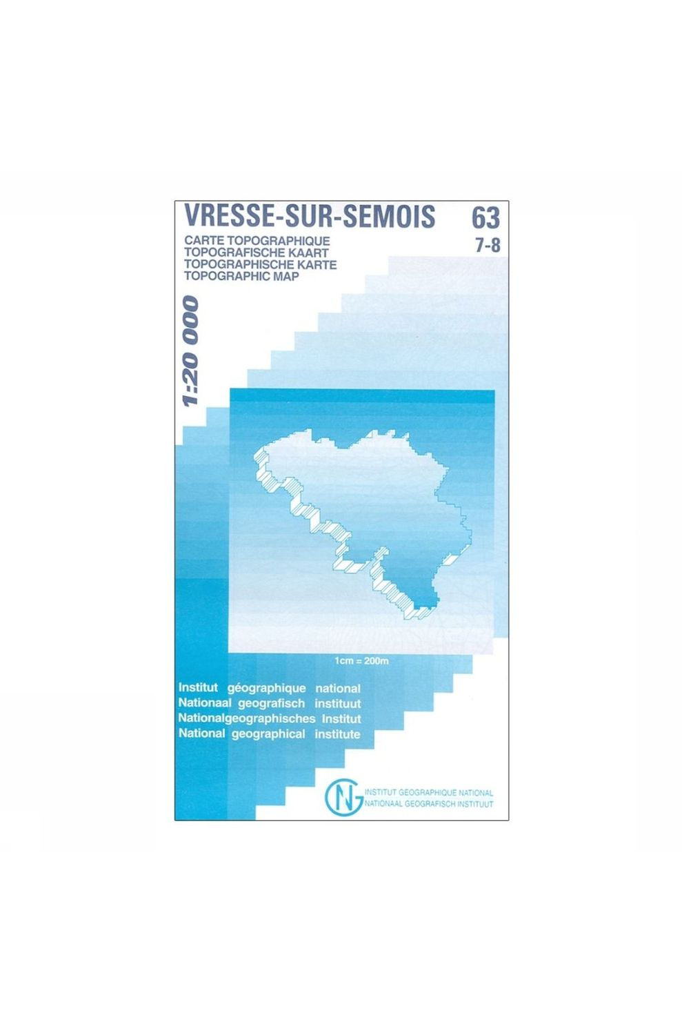 NGI Kaart Bièvre - Redu B-64/1-2 - 2008
