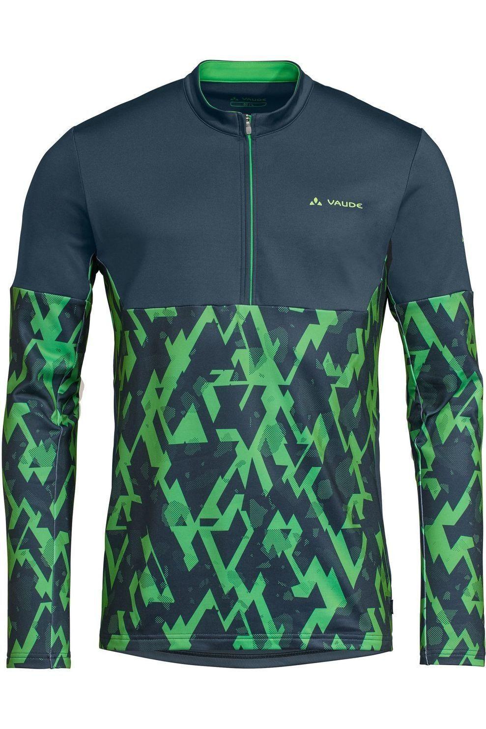 VAUDE T-Shirt Virt Qzip voor heren - Blauw/Groen - Maat: S