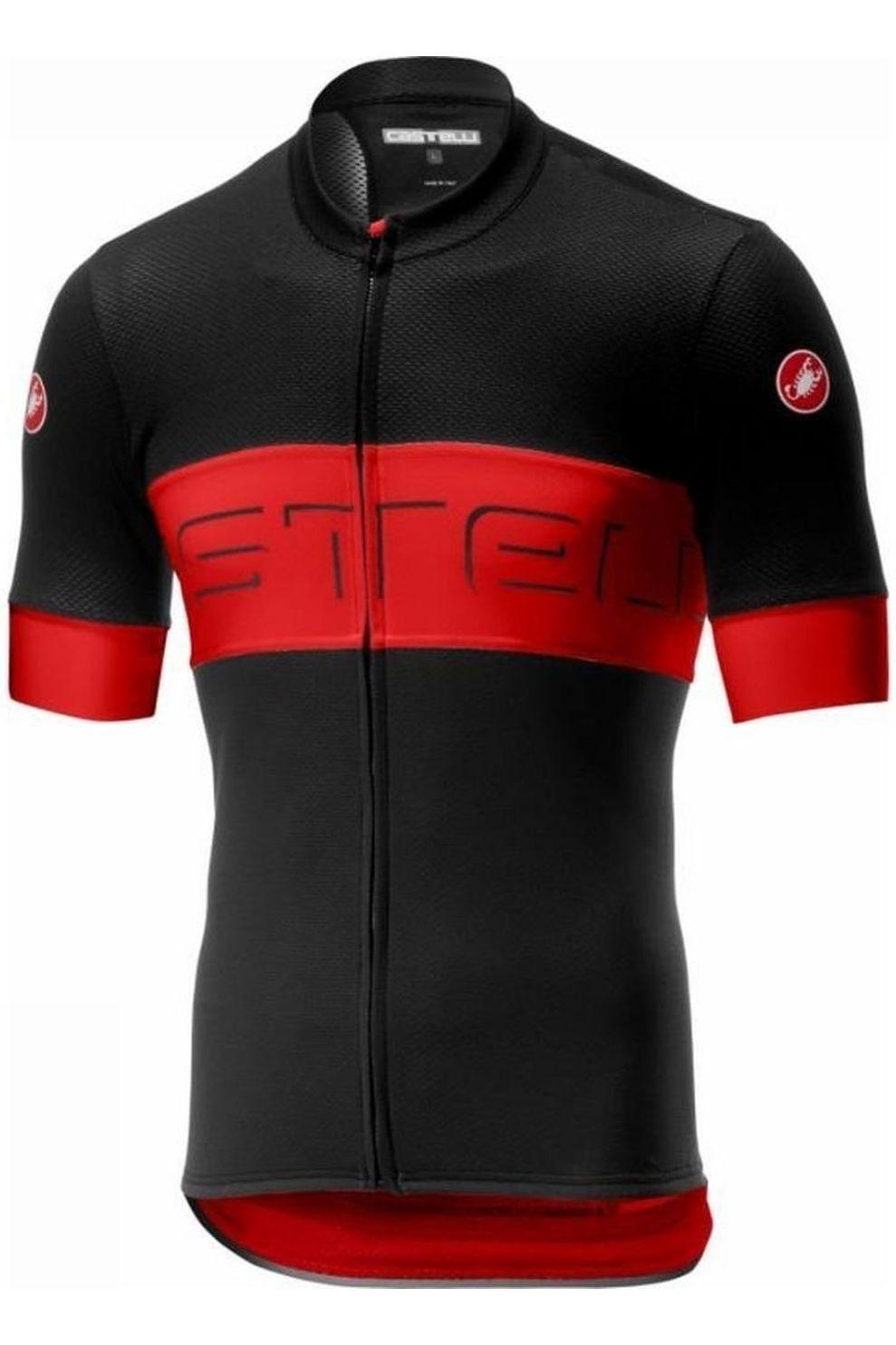 Castelli T-Shirt Prologo Vi voor heren - Zwart/Rood - Maten: M, L, XL, XXL