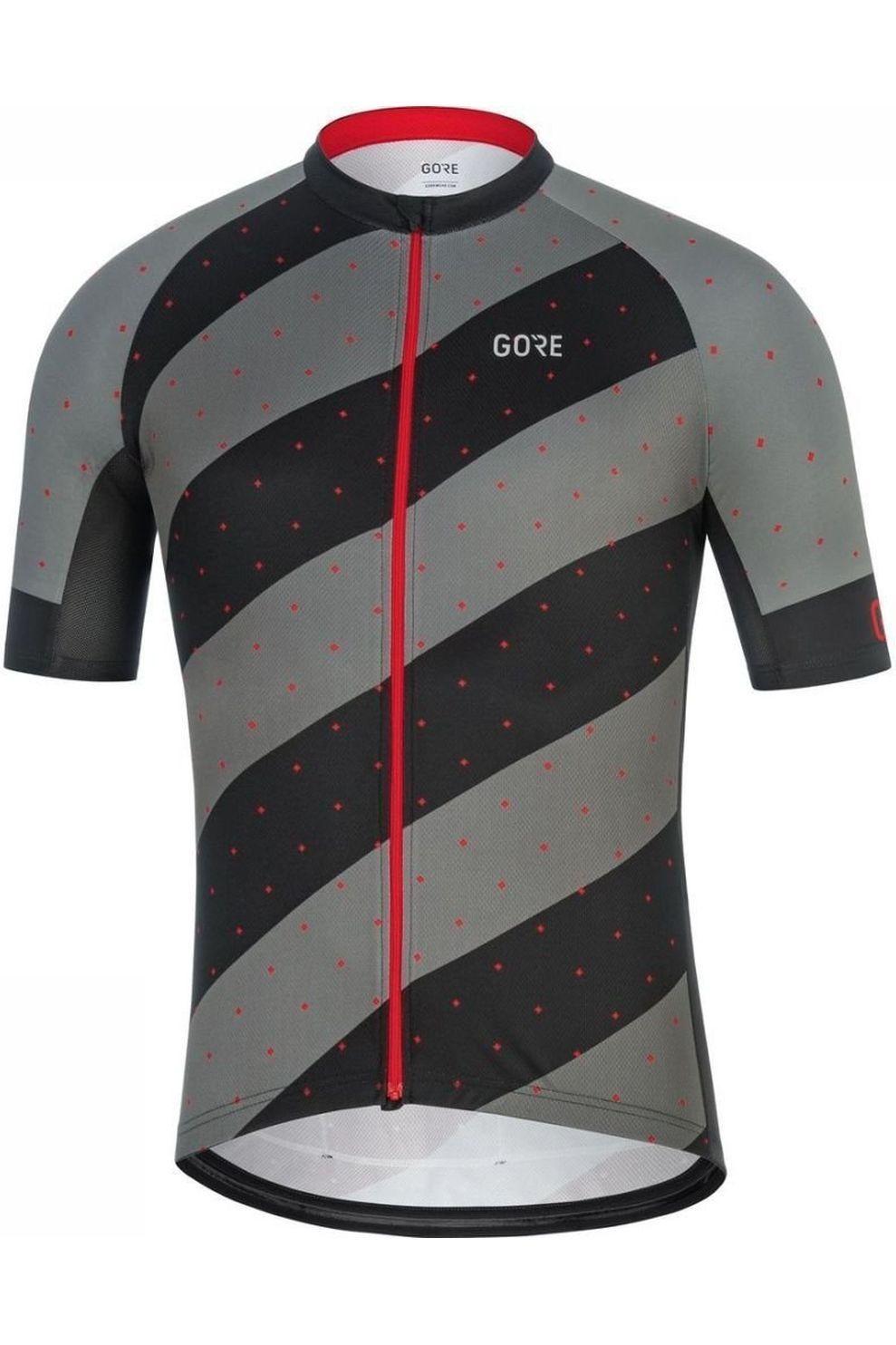 GORE WEAR T-Shirt C3 F voor heren - Zwart/Rood - Maten: M, L, XL