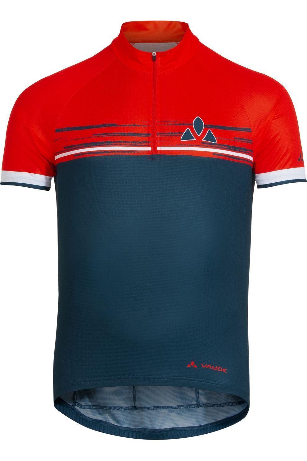 VAUDE T-Shirt Mitus voor heren - Blauw/Rood - Maten: M, L, XL, XXL