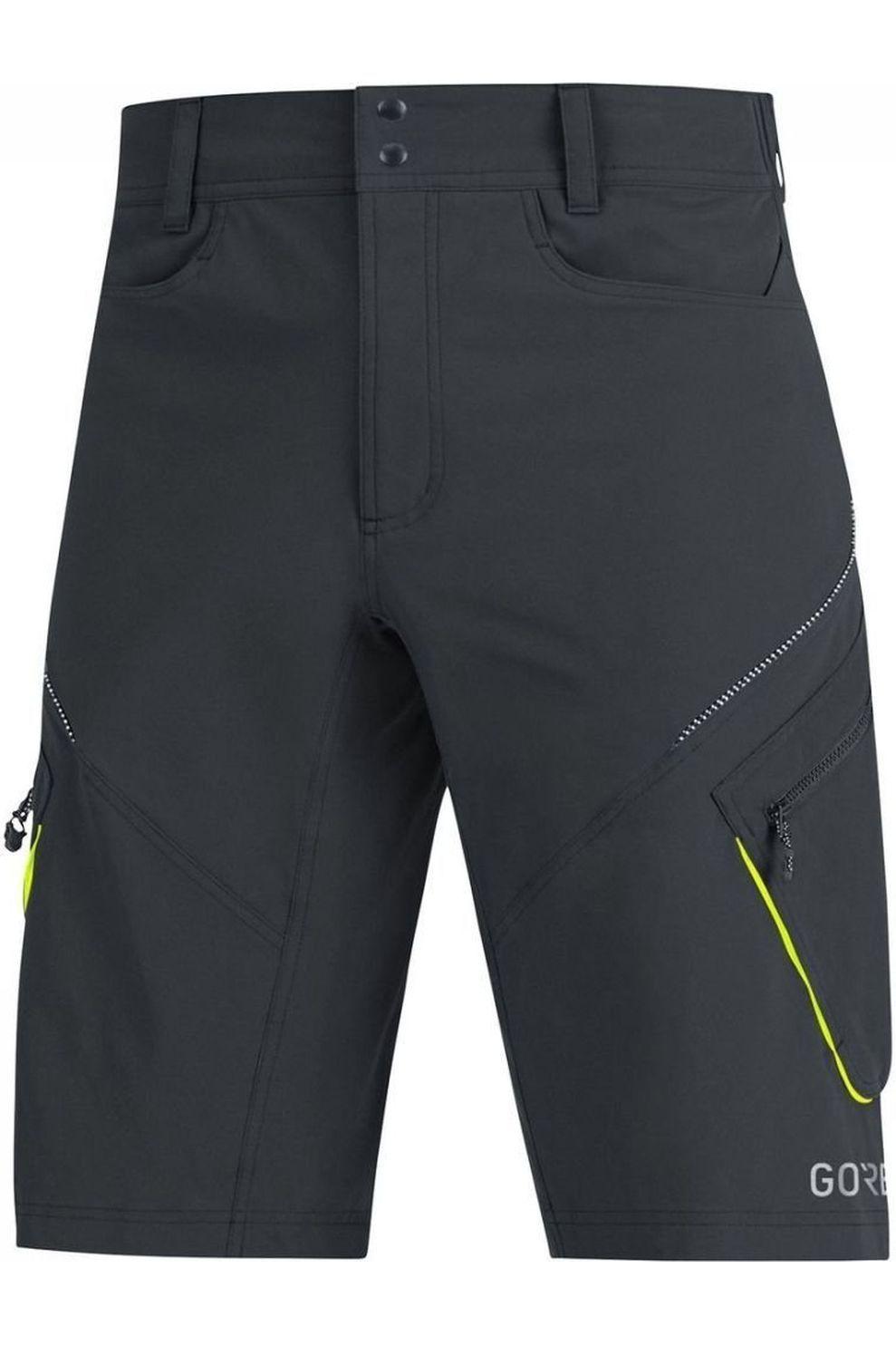 GORE WEAR Broek C3 Trail Shorts voor heren - Zwart - Maten: S, M, L, XL, XXL