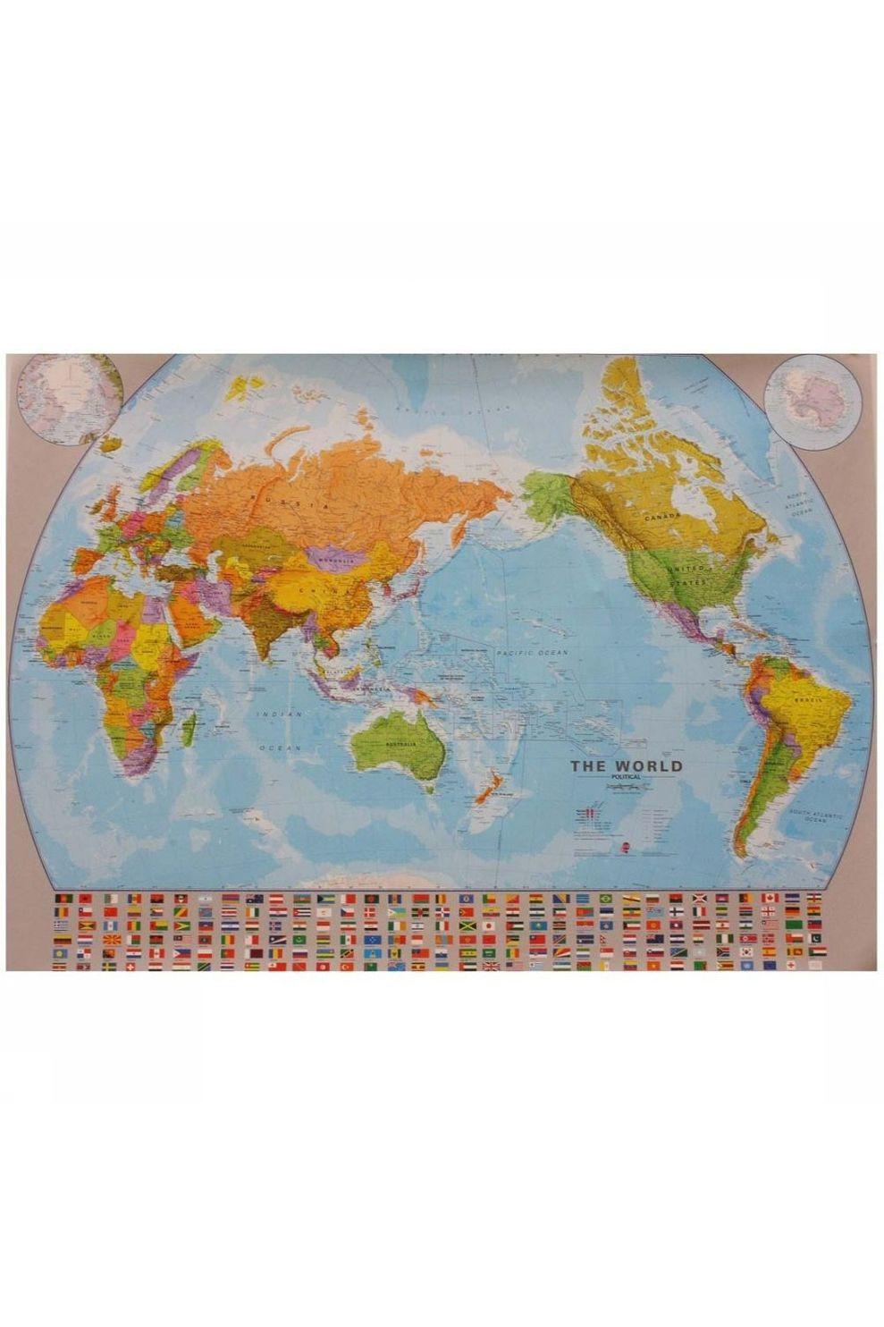 Maps International Map World Political: Pacific - 2020