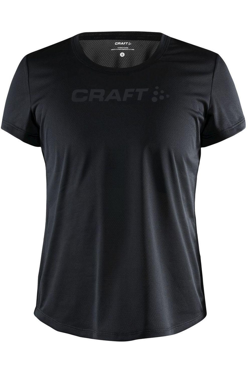 Craft T-Shirt Core Essence voor dames - Zwart - Maten: S, M, L