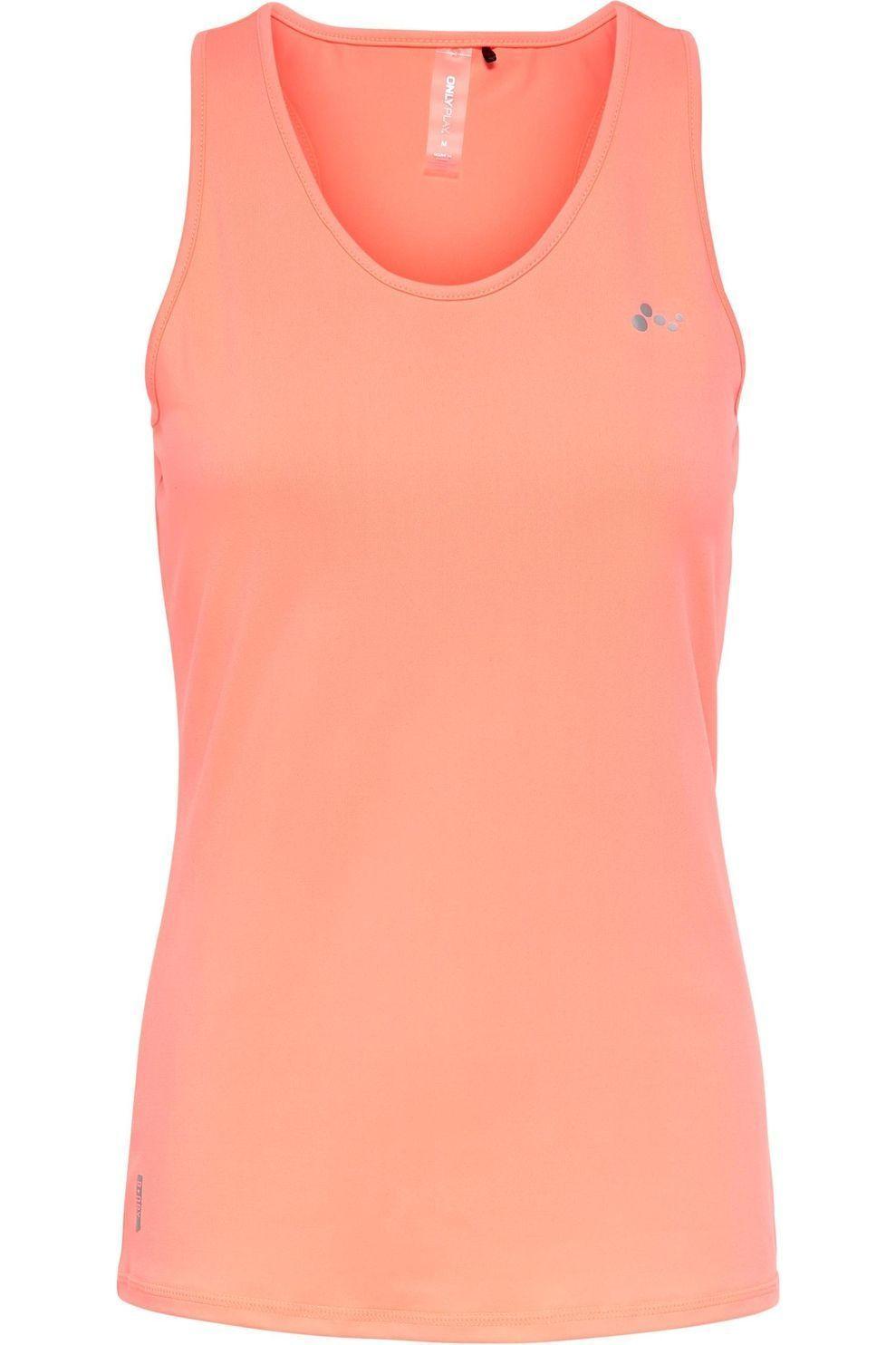 Only Play T-Shirt Onpclarissa Sl Training-Opus voor dames - Oranje - Maten: XS, S, M, L, XL