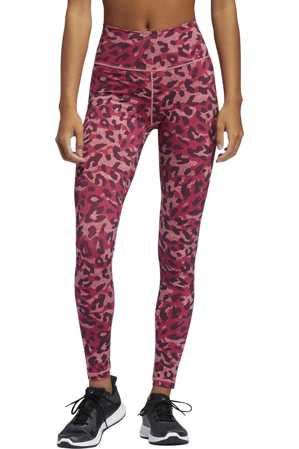 adidas Legging Bt 2.0 Aop Lt voor dames - Roze/ Gemengd - Maten: S, M, L, XL