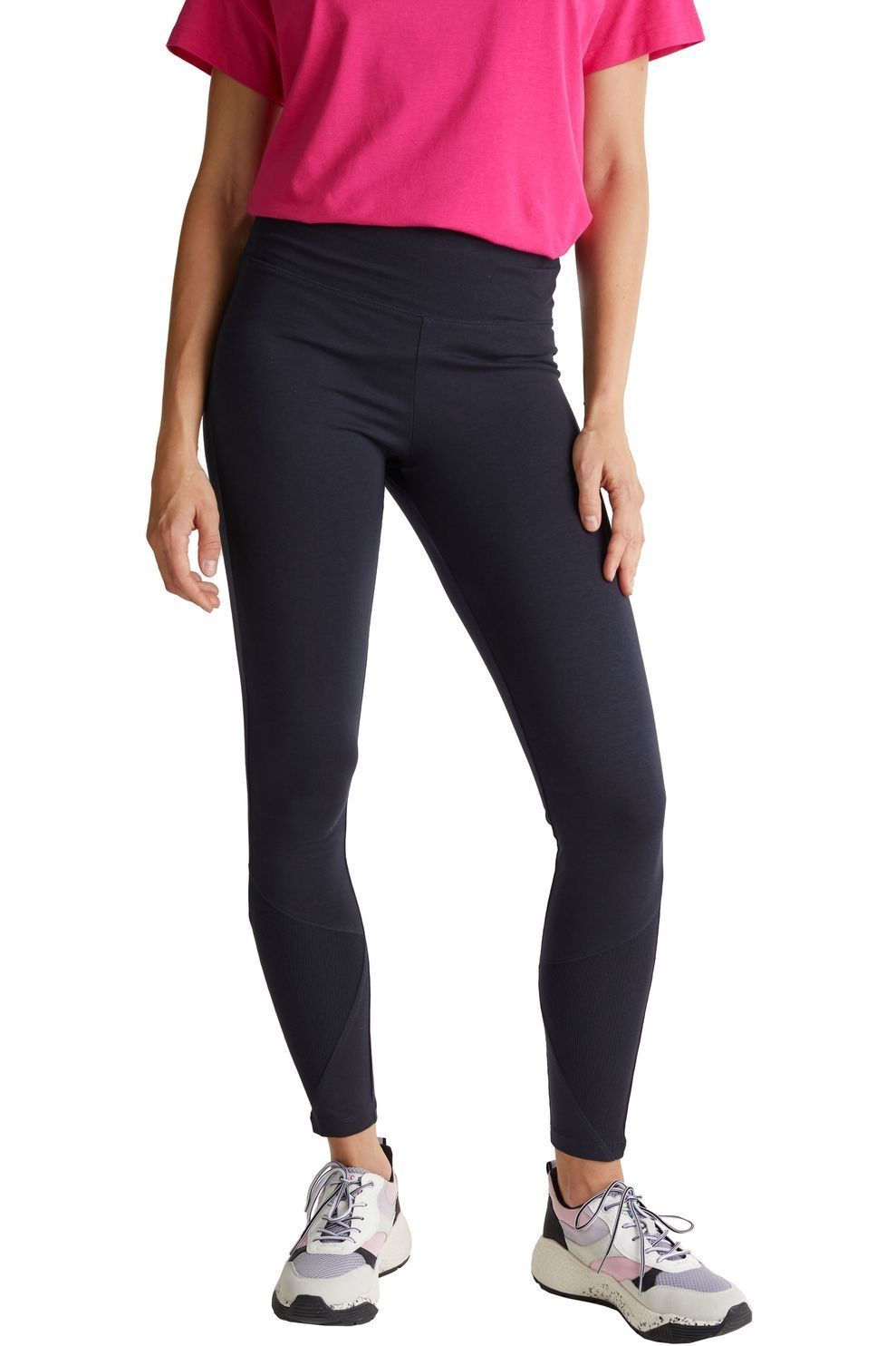 Esprit Legging Tight Cotton Lycra Uni voor dames - Blauw - Maten: XS, S, M - Nieuwe collectie