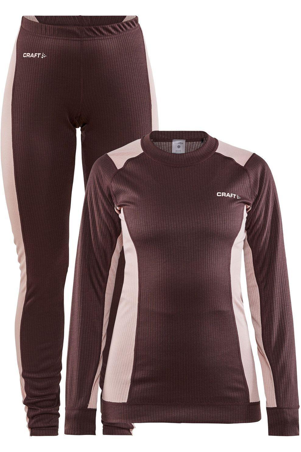 Craft Legging Core Dry Baselayer Set voor dames - Paars/Roze - Maten: S, M, L, XL, XXL - Nieuwe coll