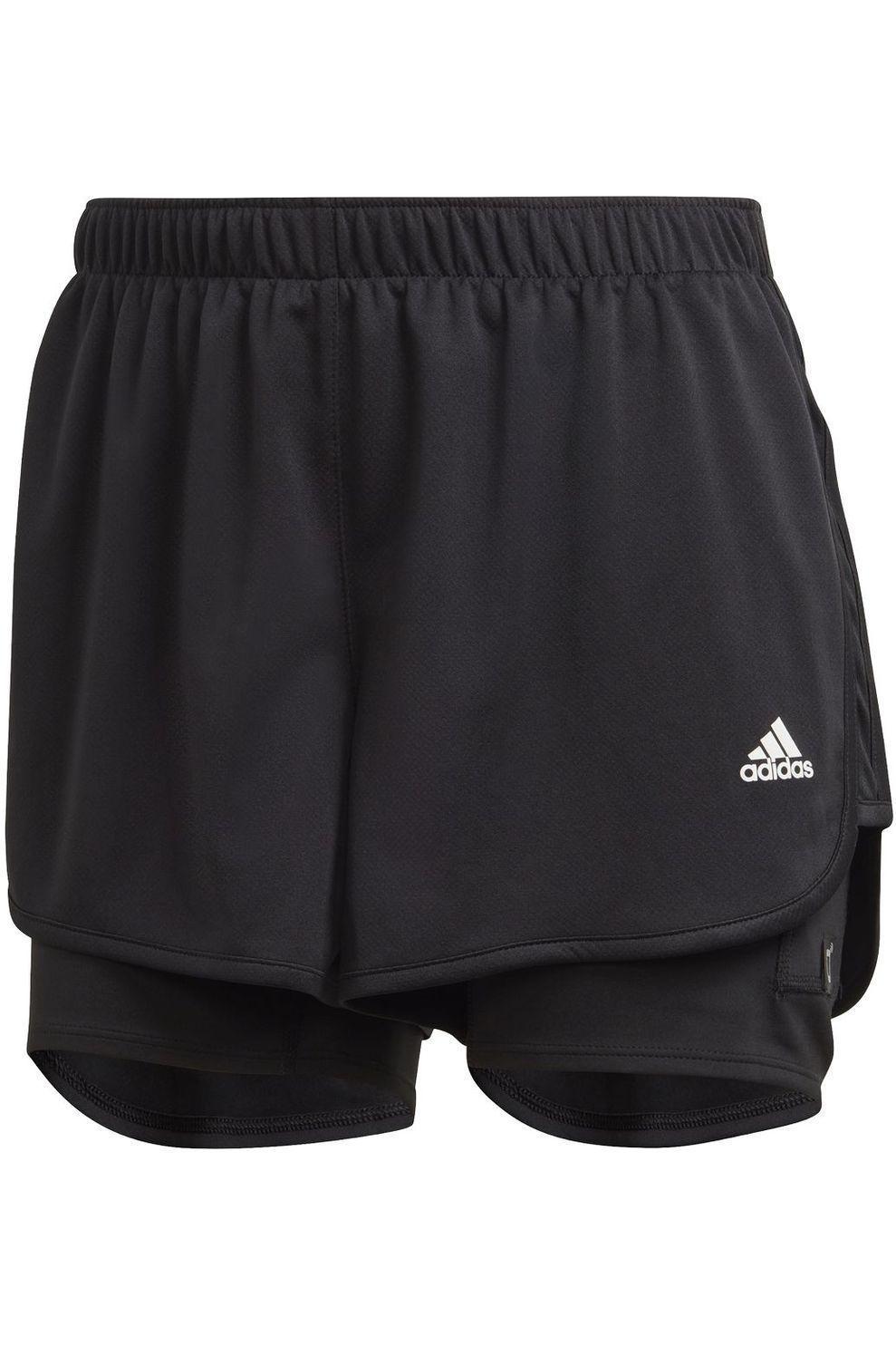 adidas Short M20 Short 2In1 voor dames - Zwart - Maten: XS, M, L