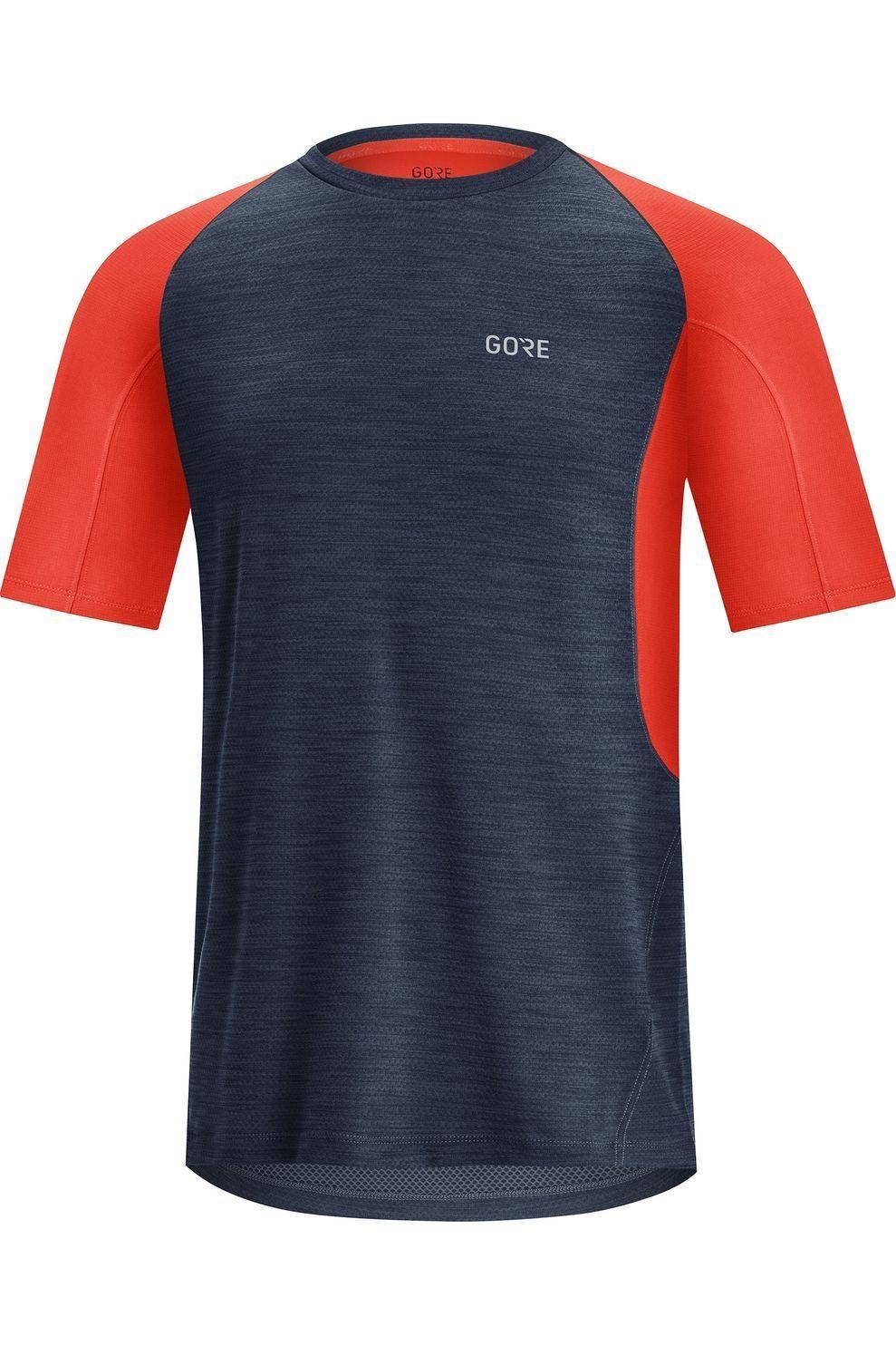 GORE WEAR T-Shirt R5 voor heren - Blauw/Rood - Maten: S, M, L, XL, XXL