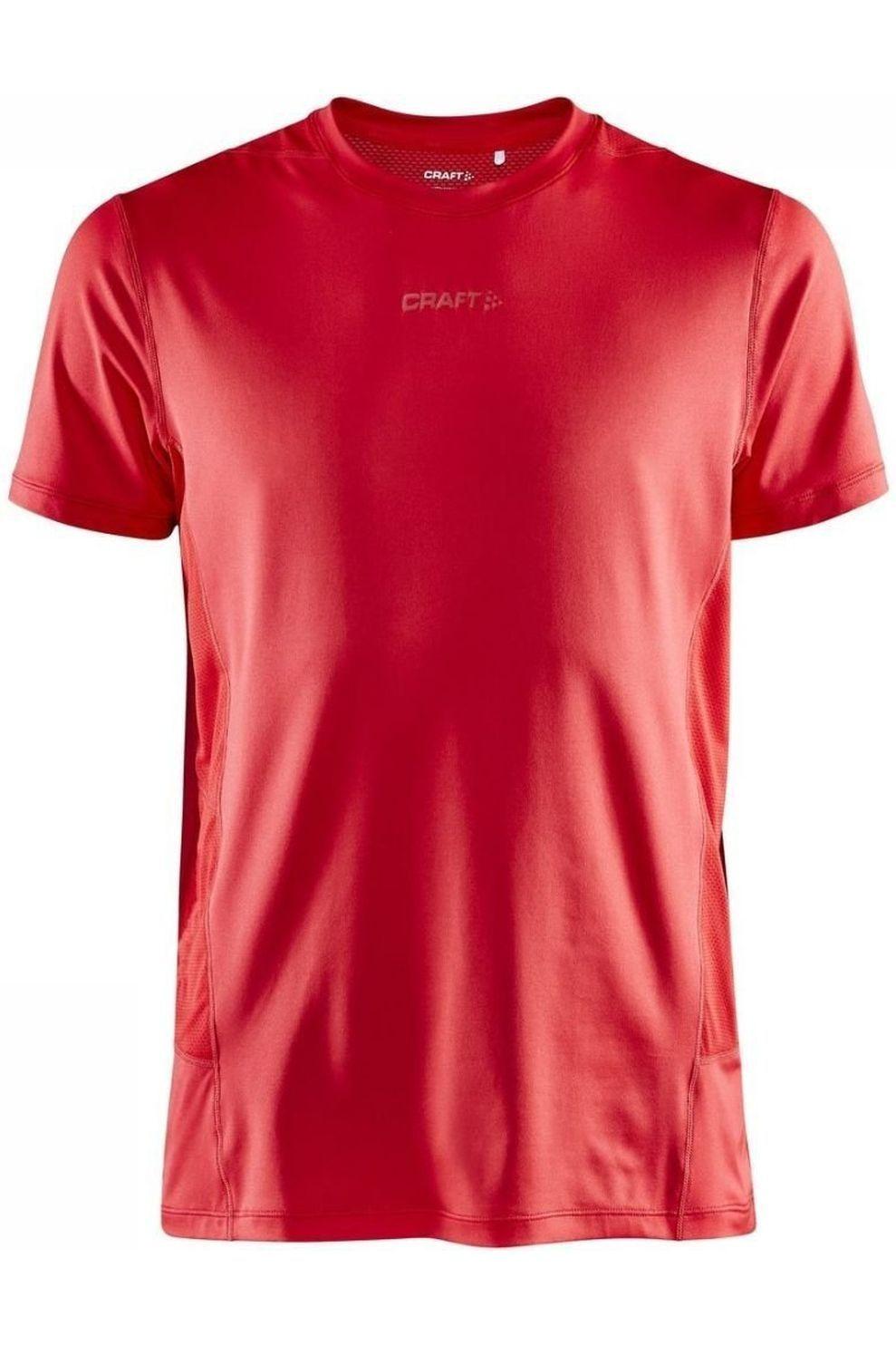 Craft T-Shirt Adv Essence Ss Tee M voor heren - Rood - Maten: XS, S