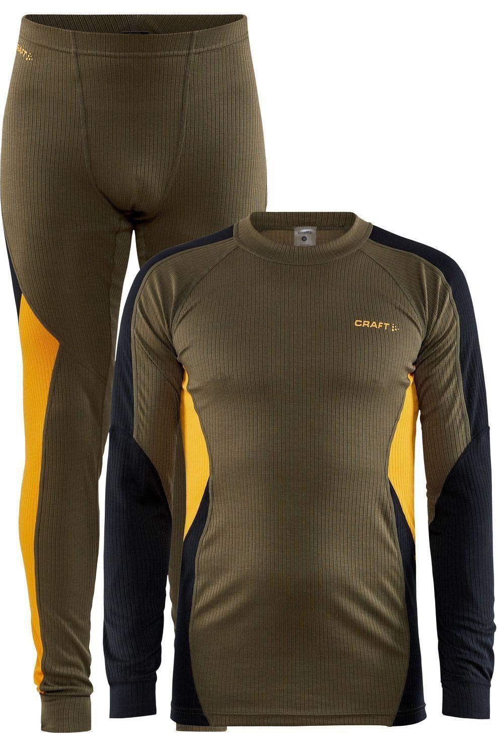 Craft Legging Core Dry Baselayer Set voor heren - MiddenGroen/Geel - Maten: S, M, L, XL, XXL - Nieuw