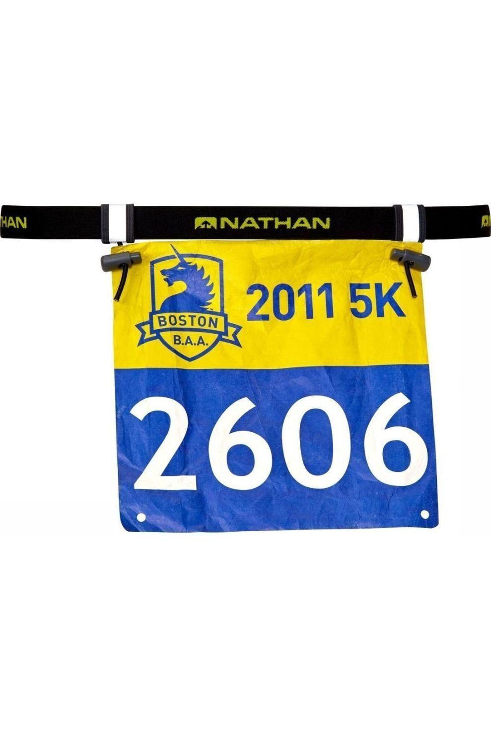 Nathan Fitness Materiaal Nat Race Number 2.0 - Zwart