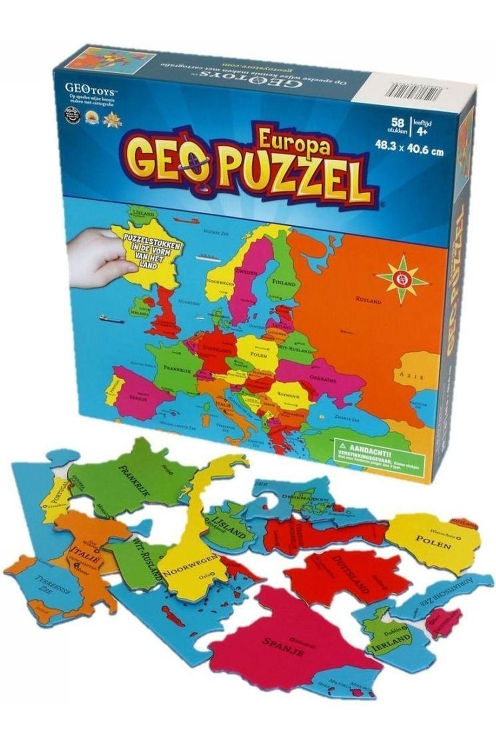 GEOTOYS Reisboek GeoPuzzle Europa 58 stukken (NL) 483 x 406 mm - 2020