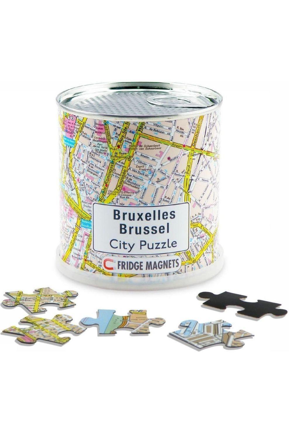 EXTRAGOODS Reisboek Brussel city puzzle magnets - 2015