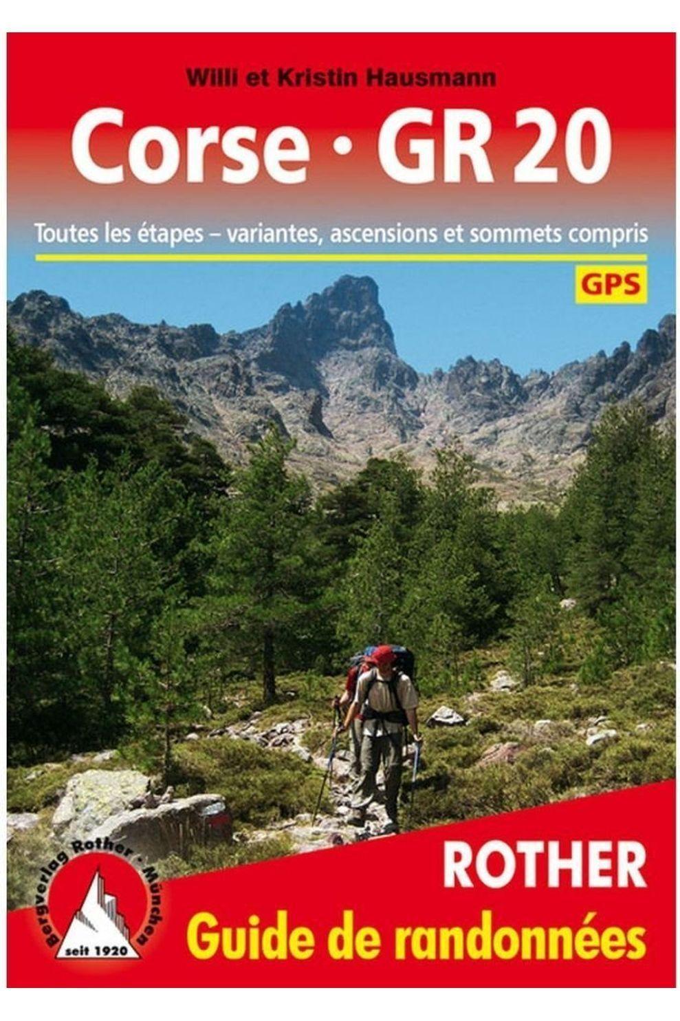 Rother Corse GR20 GPS guide rando - 2018