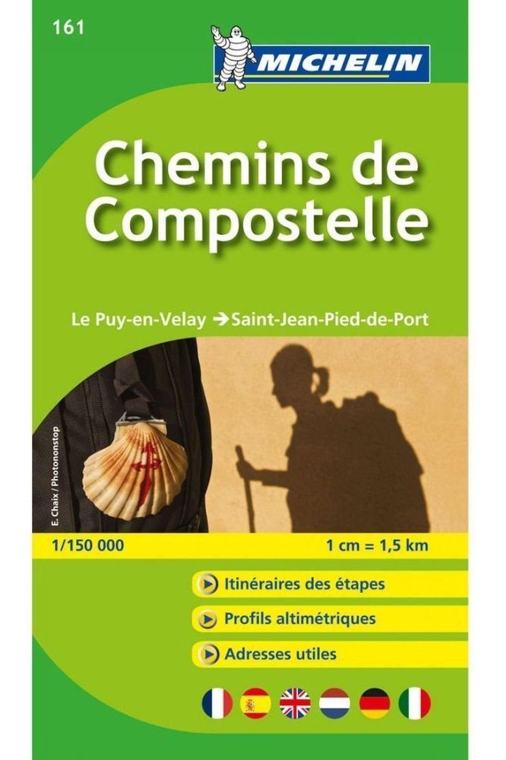 Michelin Chemins de Compostelle 161 mich Puy-en-Velay-St.Jean-Port - 2019
