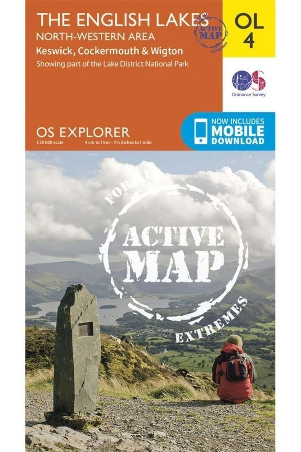 Ordnance Survey The English Lakes - North-Western Area Active Exp Gepl. - 2015