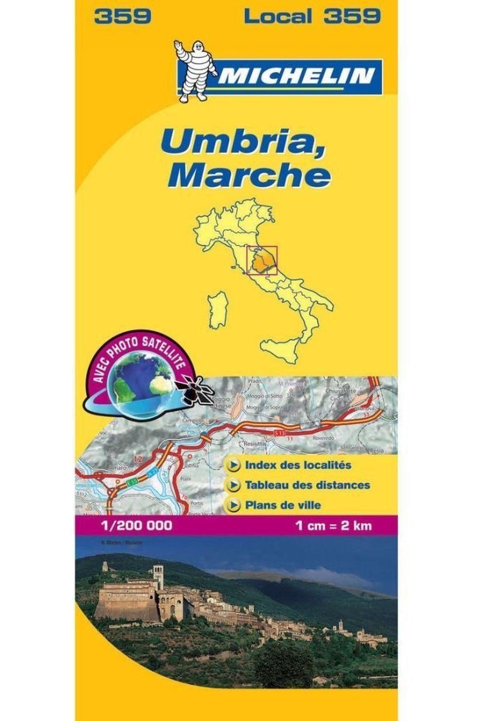 Michelin Umbrië - Marche 359 mich (r) - 2018