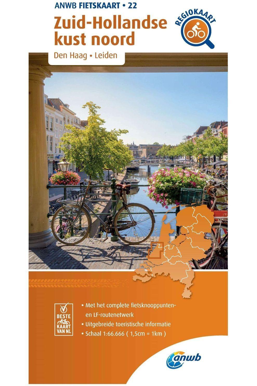 ANWB Zuid-Hollandse Kust Noord 22 Fietskaart R/V - 2020