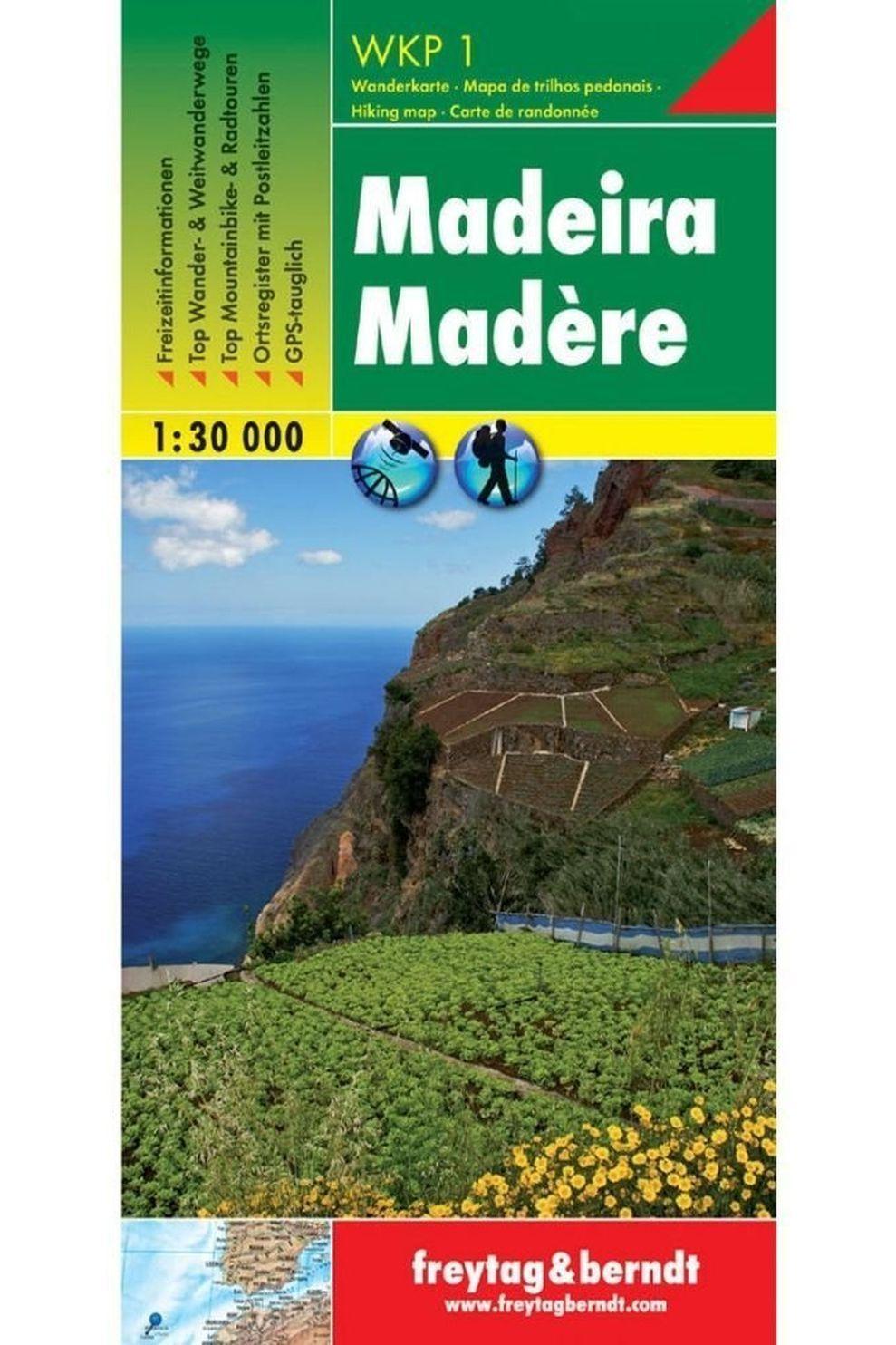 Freytag & Berndt Livre De Voyage Madeira F&b Gps Utm (wandel & Fietskaart) - Wkp1