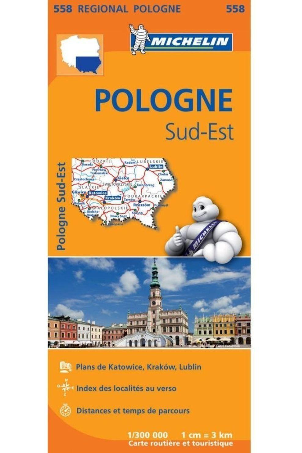 Michelin Reisgids Polen Zuid-Oost 558 mich (r) - 2017