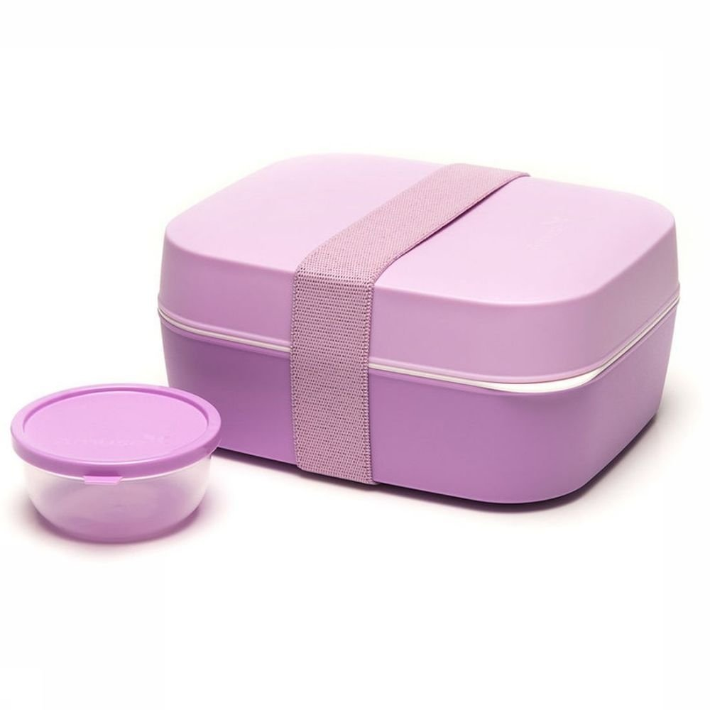 Afbeelding van Amuse Voorraadpot Lunchbox 3 In 1 - Roze