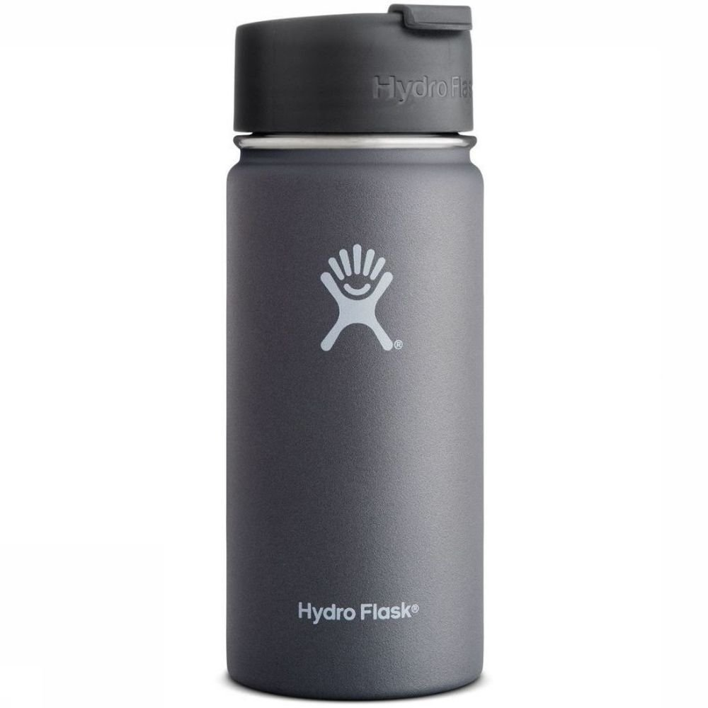 Hydro Flask Isolatiefles 16oz-473ml Wide Mouth Coffee Grijs