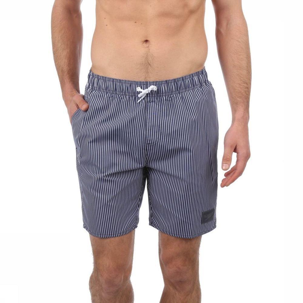 97262d3d01 Speedo Swim Shorts Printed Check Leisure 18 Inch | A.S.Adventure