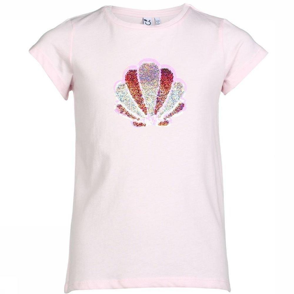 Afbeelding van 3 Pommes T-shirt Palm Spring voor meisjes - Roze - 152