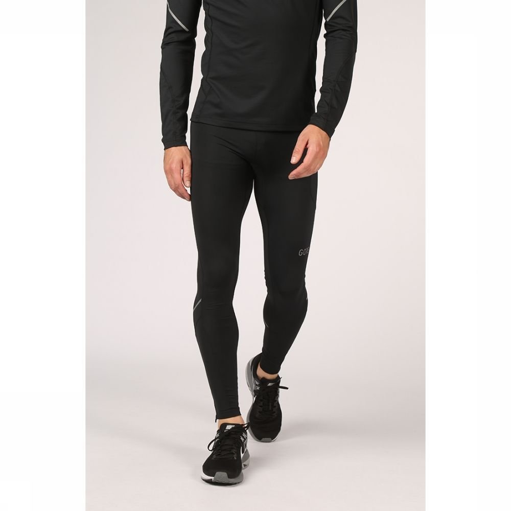 GORE WEAR Legging R3 Mid voor heren - Zwart - Maten: S, M