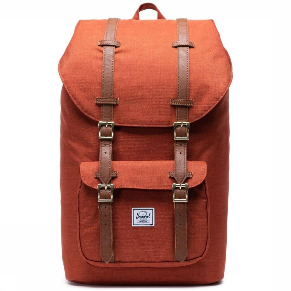 Herschel Supply Rugzak Little America Classics Bruin-Oranje