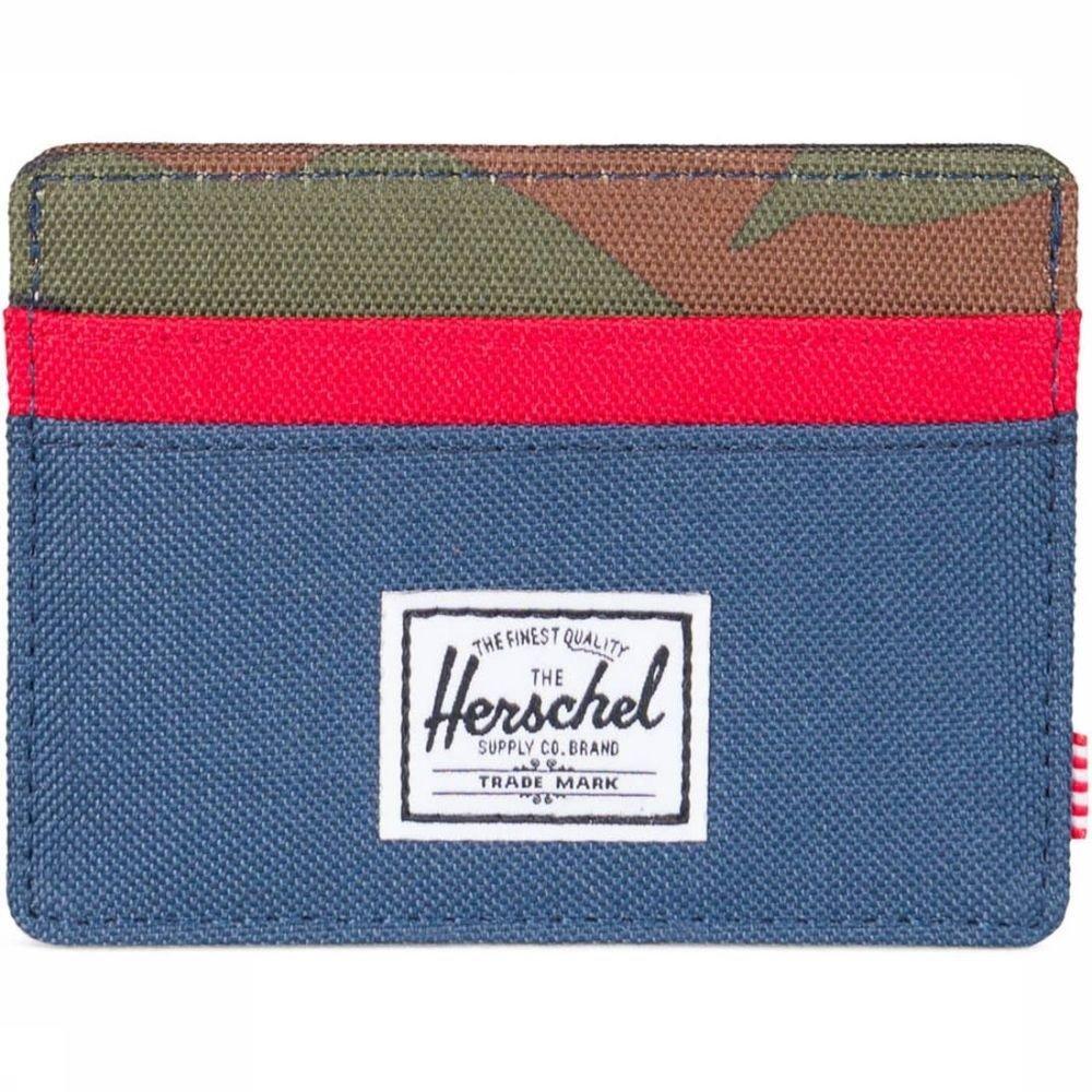 Herschel Supply Portefeuille Charlie Blauw-Rood