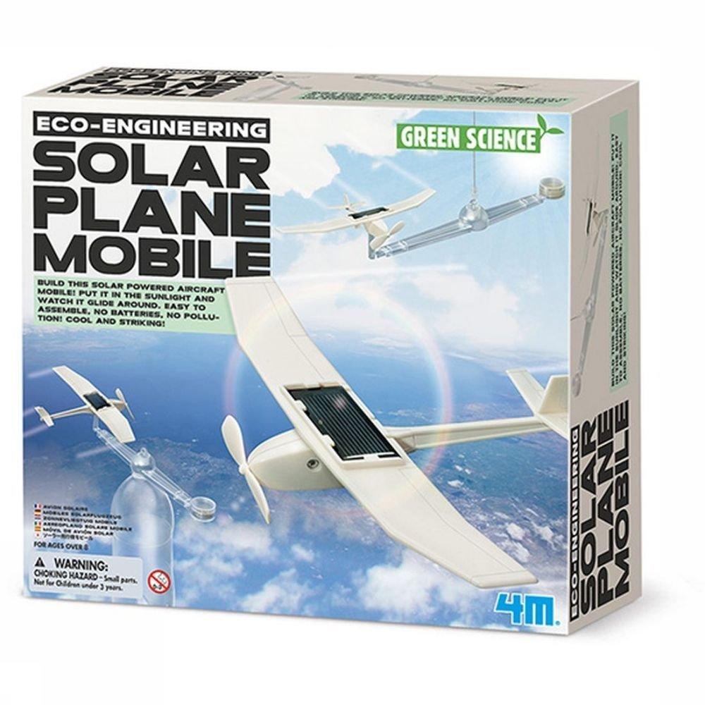 Afbeelding van 4M Spel Solar Plane Mobile voor kinderen - Wit
