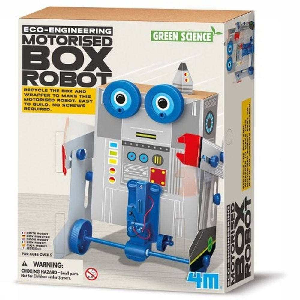 Afbeelding van 4M Spel Motorised Box Robot voor kinderen - Grijs