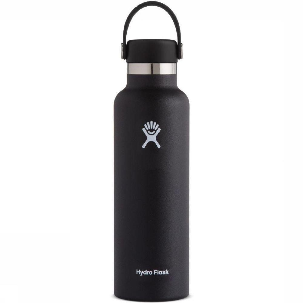 Hydro Flask Isolatiefles 21oz-621ml Standard Mouth Zwart
