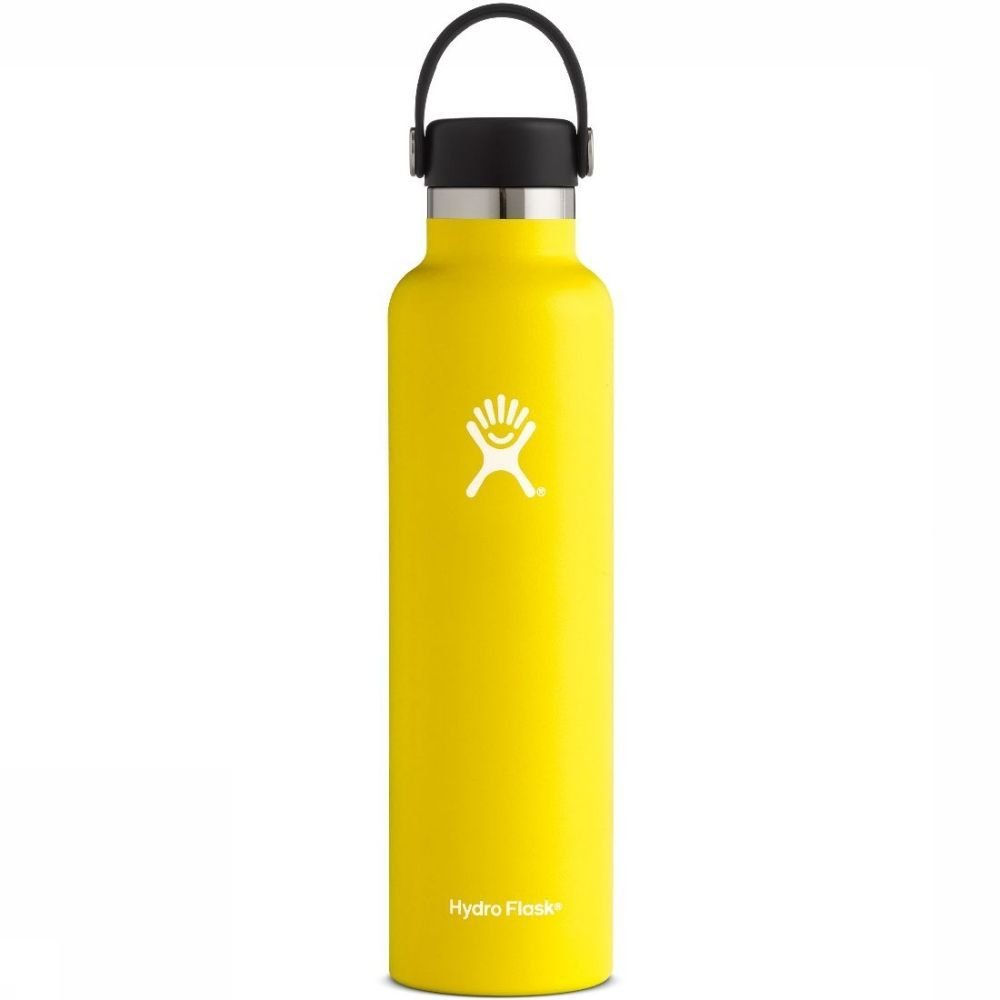 Hydro Flask Isolatiefles 24oz-709ml Standard Mouth Geel