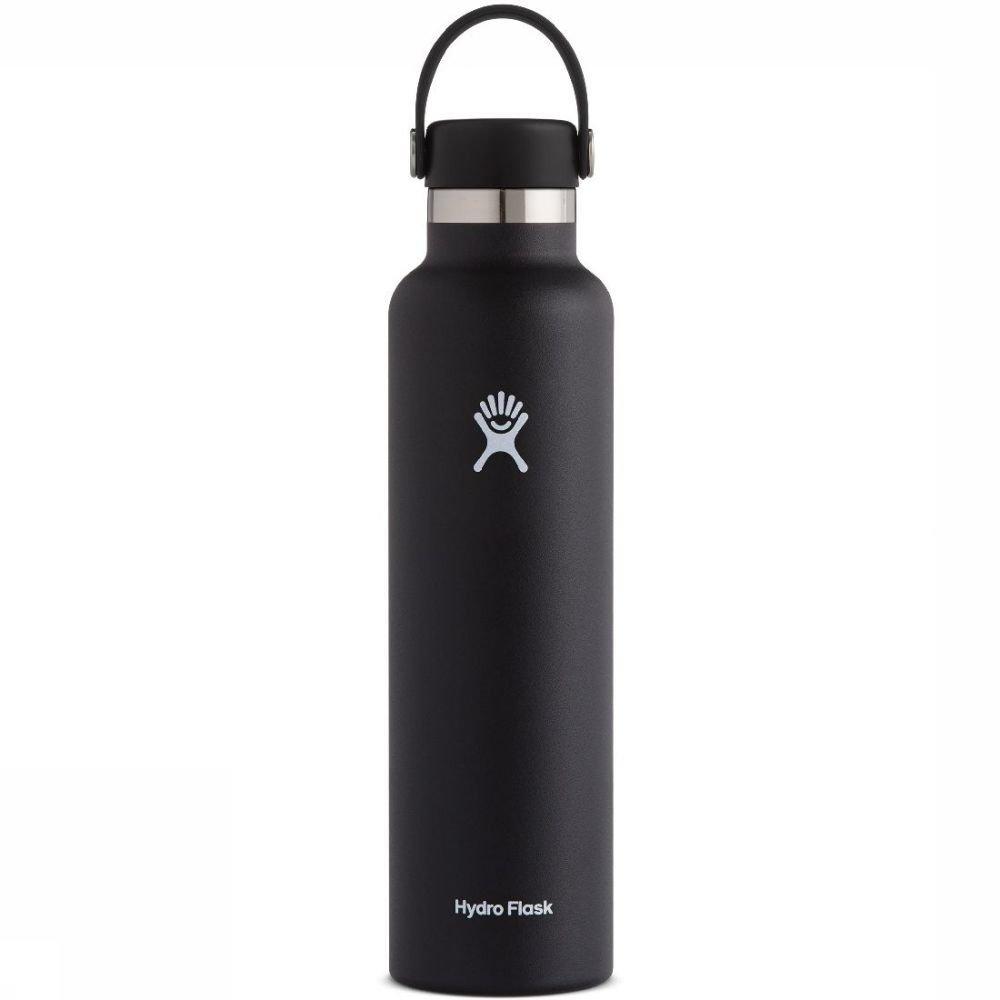 Hydro Flask Isolatiefles 24oz-709ml Standard Mouth Zwart