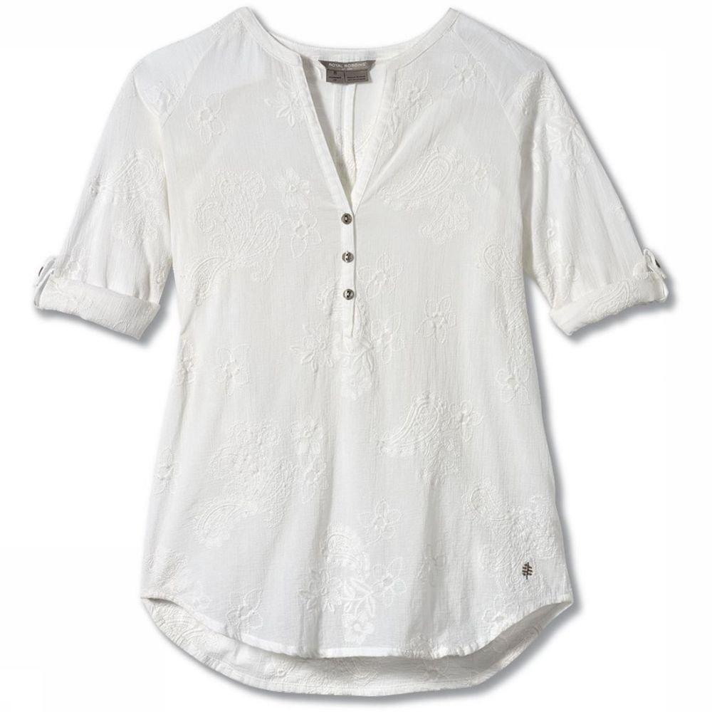 Royal Robbins Hemd Oasis Tunic II 3/4 Sleeve voor dames - Wit - Maten: S, M, L, XL - Nieuwe collecti
